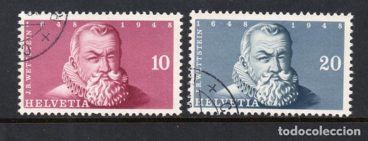 SUIZA 453A/53B - AÑO 1948 - EXPOSICION FILATELICA DE BALE (Sellos - Extranjero - Europa - Suiza)
