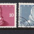 Sellos: SUIZA 453A/53B - AÑO 1948 - EXPOSICION FILATELICA DE BALE. Lote 63703379
