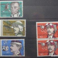 Stamps - Sellos de Suiza/Switzerland/Suisse Pioneros de la Aviacíon 1977 - 63979771