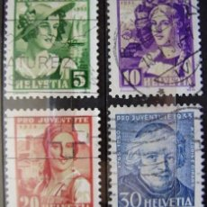 Sellos: SUIZA - IVERT Nº 267/70 - SERIE SELLOS USADOS - - ( M 033 ). Lote 64135327