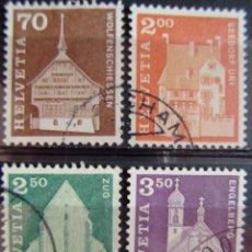 Sellos: SUIZA - IVERT 795/98 - SERIE BASICA USADOS - EDIFICIOS - - ( M 090 ) . Lote 64303647