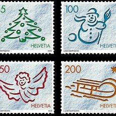 Sellos: SWITZERLAND 2016 - CHRISTMAS 2016 STAMP SET MNH. Lote 66046426