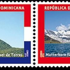 Sellos: SWITZERLAND 2016 - JOINT ISSUE SWITZERLAND – DOMINICAN REPUBLIC STAMP SET MNH. Lote 78217958