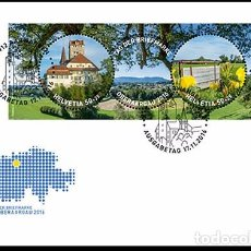 Sellos: SWITZERLAND 2016 - STAMP DAY 2016 IN OBERAARGAU FDC - FIRST DAY COVER. Lote 66050054