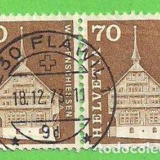 Sellos: SUIZA - MICHEL 862 - YVERT 795 - MOTIVOS Y MONUMENTOS DE LA HISTORIA POSTAL. (1967).. Lote 66943450