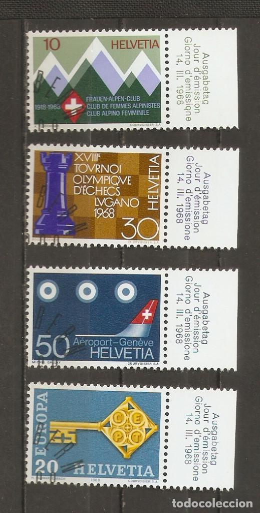 SUIZA.1968. YV Nº 803,804,805,806. (Sellos - Extranjero - Europa - Suiza)