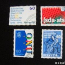 Sellos: SUIZA . SERIE COMPLETA CON MATASELLOS. YVERT Nº 1468/71. 1995. . Lote 69916693