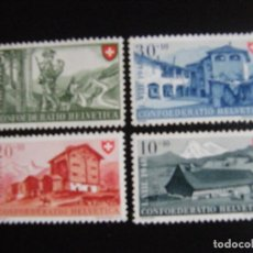Sellos: SUIZA . SERIE COMPLETA NUEVA MNH**. YVERT Nº 457/60. 1948.. Lote 69917473