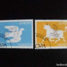 Sellos: SUIZA . SERIE COMPLETA CON MATASELLOS. YVERT Nº 1480/81. 1995. EUROPA. Lote 69917741