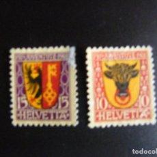 Sellos: SUIZA . SERIE COMPLETA CON MATASELLOS. YVERT Nº 168/69. 1918. . Lote 69917933