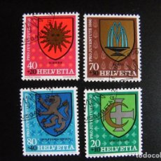 Sellos: SUIZA. SERIE COMPLETA CON MATASELLOS. YVERT Nº 1117/20. 1980.. Lote 69920329