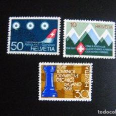 Sellos: SUIZA. SERIE COMPLETA CON MATASELLOS. YVERT Nº 803/05. 1968.. Lote 69958973