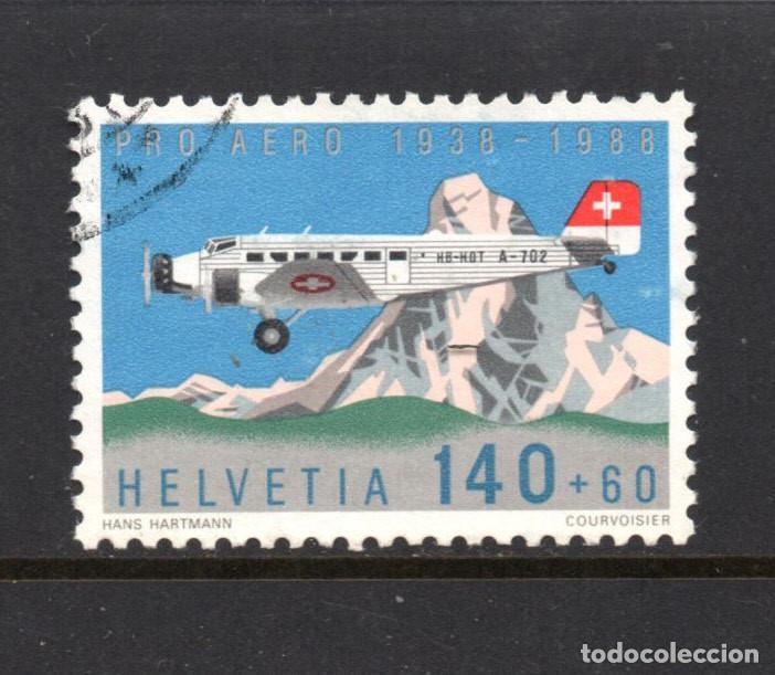 SUIZA AEREO 49 - AÑO 1988 - AVIONES - 50º ANIVERSARIO DE LA FUNDACION PRO AEREO (Sellos - Extranjero - Europa - Suiza)