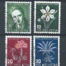 Sellos: SUIZA,USADO,1946,PRO JUVENTUD. Lote 70595334