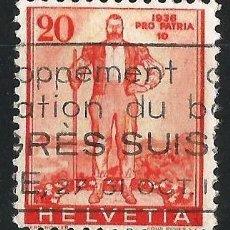 Sellos: SUIZA 1936 PRO PATRIA. Lote 71828683