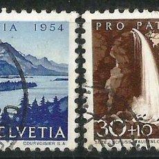 Sellos: SUIZA 1954 PRO PATRIA. PAISAJES DIVERSOS. Lote 71833947