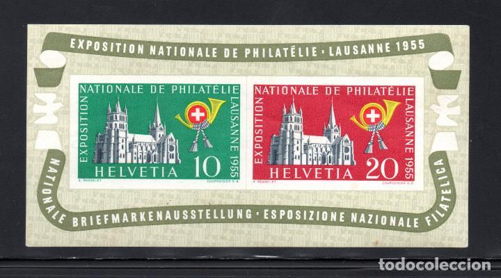 SUIZA HB 15* - AÑO 1955 - LAUSANA 1955, EXPOSICION NACIONAL DE FILATELIA (Sellos - Extranjero - Europa - Suiza)