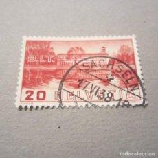 Sellos: SUIZA 1938, ZUMSTEIN Nº 211, B.I.T., MATASELLADO. Lote 77560137