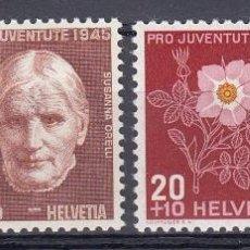 Sellos: SUIZA 1945 PRO JUVENTUD Y FLORES - YVERT 423-426. Lote 27126055