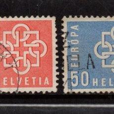 Sellos: SUIZA 630/31 - AÑO 1959 - EUROPA. Lote 80686914