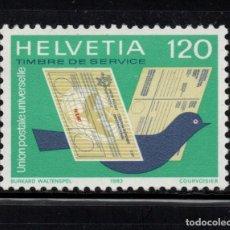 Sellos: SUIZA SERVICIO 462** - AÑO 1983 - UNION POSTAL UNIVERSAL. Lote 80688158