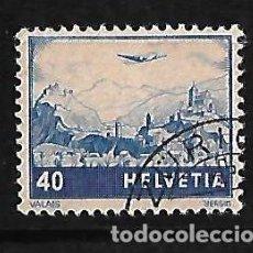 Sellos: SUIZA 1948 CORREO AÉREO USADO . Lote 83371372