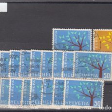 Sellos: SUIZA 698/9 LOTE DE 20 SERIES USADA, TEMA EUROPA 1962. Lote 83752032
