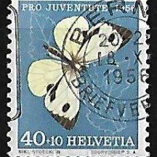 Sellos: SUIZA 1956 PRO JUVENTUD FINAL DE SERIE USADO YVERT 585 . Lote 84430180