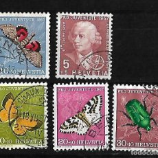 Sellos: SUIZA 1957 PRO JUVENTUD USADOS SERIE COMPLETA YVERT 597-601 . Lote 84430244