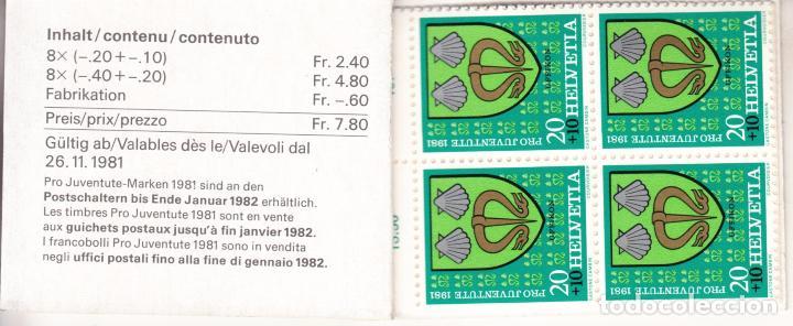 Sellos: suiza 1139c carnet, pro-juventud, escudos, - Foto 2 - 21806223