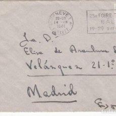 Sellos: CARTA: 1941 DE GINEBRA ( SUIZA ) A MADRID. CONTROL DE LA D.G. SEGURIDAD. Lote 87240760