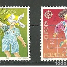 Sellos: YT 1323-24 SUIZA 1989 . Lote 91759935