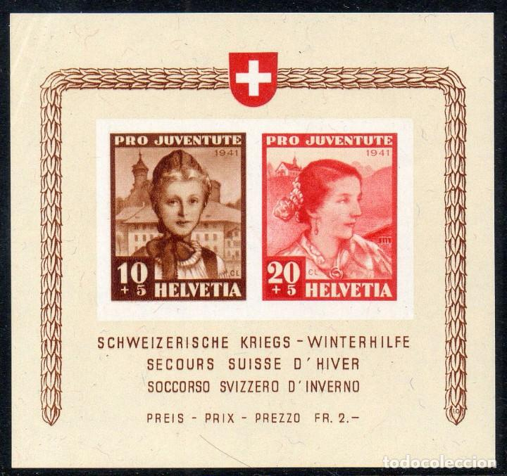 SUIZA AÑO 1941 YV HB 6*** LUJO - PRO JUVENTUD - SOCORRO DE INVIERNO (Sellos - Extranjero - Europa - Suiza)