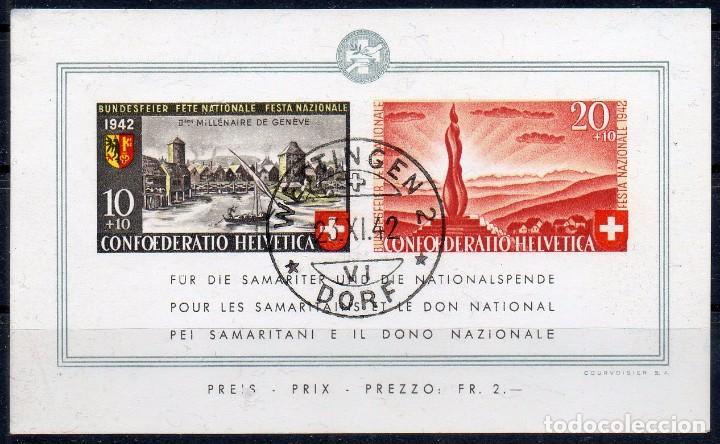 SUIZA AÑO 1942 YV HB 7ºº PRO PATRIA (Sellos - Extranjero - Europa - Suiza)