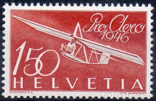 SUIZA AÑO 1946 YV A 40*** PRO AEREO - AVIONES - TRANSPORTES (Sellos - Extranjero - Europa - Suiza)