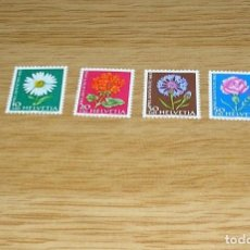 Sellos: SUIZA.1963 PRO JUVENTUTE - FLOWERS.SIN USAR.. Lote 94535630