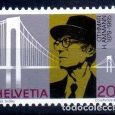 Sellos: SUIZA 1979 - CENT NACIMIENTO O.H.AMMANN - CONSTRUCTOR DE PUENTES - YVERT 1076 NUEVO ** MNH. Lote 95568635