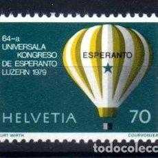 Sellos: SUIZA 1979 - 64 CONGRESO MUNDIAL DE ESPERANTO LUCERNA - YVERT 1078 NUEVO ** MNH. Lote 95568687