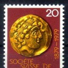 Sellos: SUIZA 1979 - CENTENARIO SOCIEDAD SUIZA DE NUMISMATICA - YVERT 1092 NUEVO ** MNH. Lote 95568767