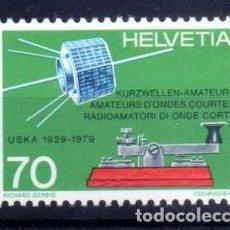 Sellos: SUIZA 1979 - CINCUENTENARIO UNION SUIZA RADIOAFICIONADOS ONDA CORTA - YVERT 1094 NUEVO ** MNH. Lote 95568851