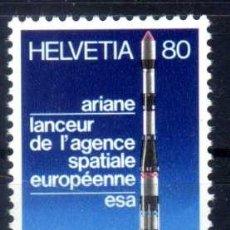 Sellos: SUIZA 1979 - ARIANE - LANZADOR DE LA AGENCIA ESPACIAL EUROPEA ESA - YVERT 1095 NUEVO ** MNH. Lote 95568891