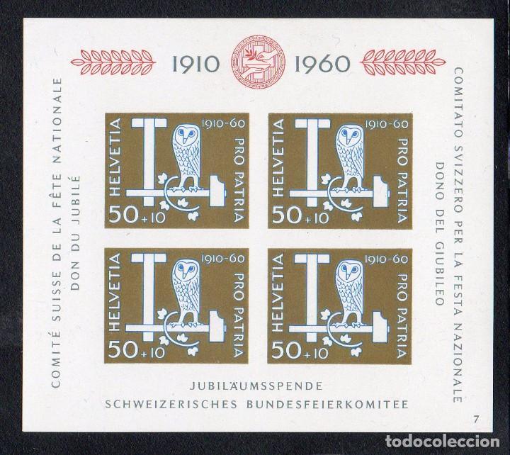 SUIZA AÑO 1960 YV HB 17*** 50 ANVº FIESTA NACIONAL - PRO PATRIA - AVES - FAUNA (Sellos - Extranjero - Europa - Suiza)