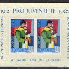Sellos: SUIZA AÑO 1962 YV HB 18*** 50 ANVº DE LA JUVENTUD - PRO JUVENTUD - NIÑOS. Lote 98969011