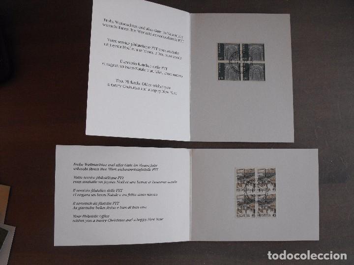 Sellos: Suiza. Lote con enteropostales, sobre primer día, ediciones conmemorativas. Ver fotos. - Foto 6 - 99227459