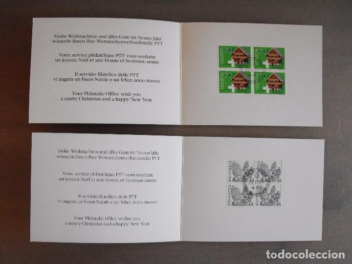 Sellos: Suiza. Lote con enteropostales, sobre primer día, ediciones conmemorativas. Ver fotos. - Foto 12 - 99227459
