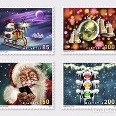 Sellos: SWITZERLAND 2017 - CHRISTMAS 2017 STAMP SET MNH. Lote 102233803