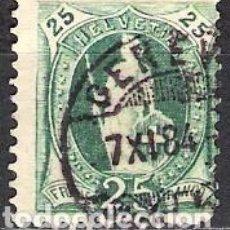 Sellos: SUIZA 1882 - USADO. Lote 103108011