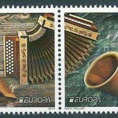 Sellos: SUIZA 2014 EUROPA INSTRUMENTOS MUSICALES. Lote 103772583