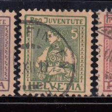 Sellos: SUIZA , 1917 YVERT Nº 154 / 156 . Lote 105665891