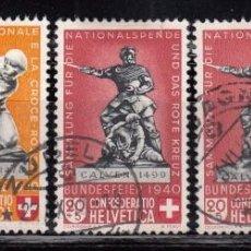 Sellos: SUIZA , 1940 YVERT Nº 349 / 353 . Lote 105666975